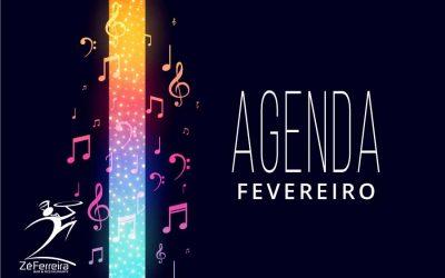 Agenda de Shows Fevereiro 2020